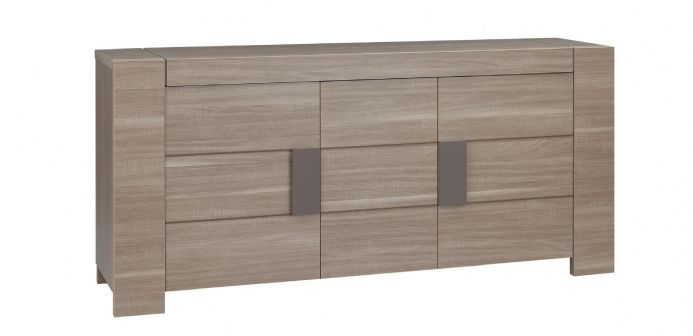 Atlanta Charcoal Oak 3 or 4 Door Sideboard